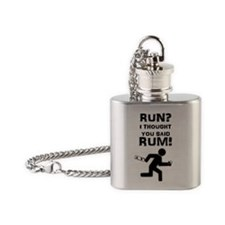 Run? Rum! Flask Necklace