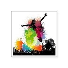 "Jump to the Beat - Music Sh Square Sticker 3"" x 3"""