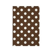 Dotted Chocolate Brown Rectangle Magnet
