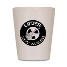 Ukes Not Nukes Shot Glass