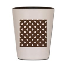 Dotted Chocolate Brown Shot Glass