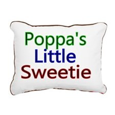 Poppas little  Sweetie Rectangular Canvas Pillow