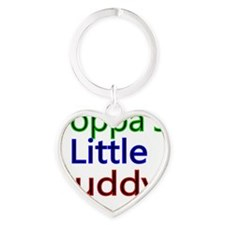 Poppas Little Buddy Heart Keychain