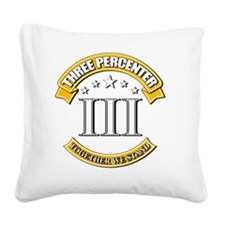 Three Percenter Square Canvas Pillow