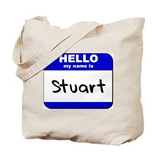 hello my name is stuart Tote Bag