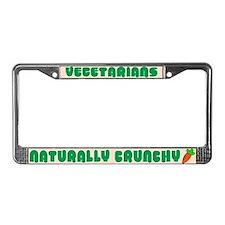 Naturally Crunchy Vegetarian License Plate Frame