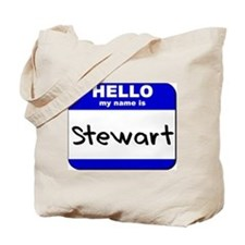 hello my name is stewart Tote Bag