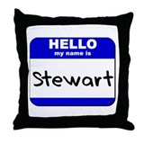 hello my name is stewart  Throw Pillow