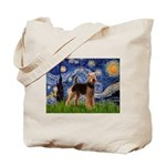 Starry Night - Airedale #6 Tote Bag