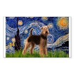 Starry Night - Airedale #6 Sticker (Rectangle)