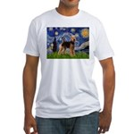 Starry Night - Airedale #6 Fitted T-Shirt