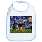 Starry Night - Airedale #6 Bib