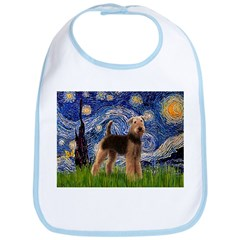 Starry Night - Airedale #6 Bib