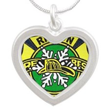Ripton logo Silver Heart Necklace
