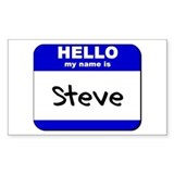 hello my name is steve Rectangle Decal