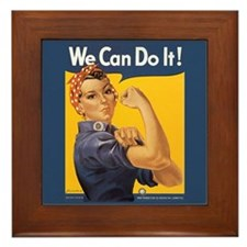 Rosie the Riveter Framed Art Tile