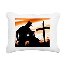 """Cowboy Prayer"" Rectangular Canvas Pillow"