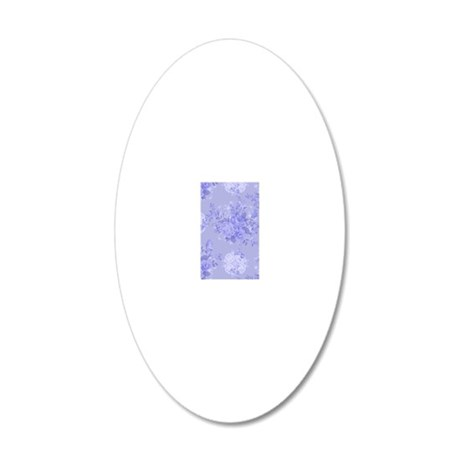 Blue Floral 20x12 Oval Wall Decal
