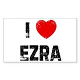 I * Ezra Rectangle Decal