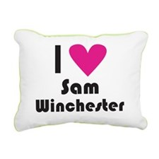 I Love Sam Winchester (P Rectangular Canvas Pillow
