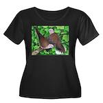 Ringneck Doves Women's Plus Size Scoop Neck Dark T