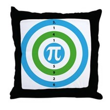 Pi Day Bullseye version 3 Throw Pillow