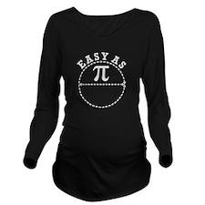 Easy as Pi Long Sleeve Maternity T-Shirt
