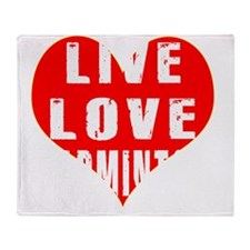 Live Love Badminton Designs Throw Blanket