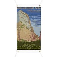Zion National Park Vintage Poster Banner