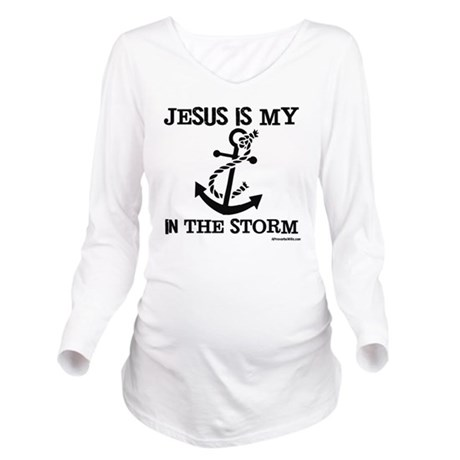 Jesus is my Anchor B Long Sleeve Maternity T-Shirt