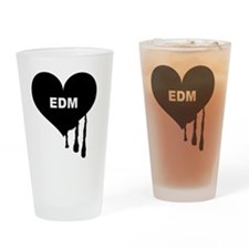 i Love EDM Drinking Glass
