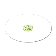 15k Green Chevron 20x12 Oval Wall Decal