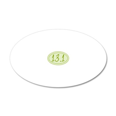 13.1 Green Chevron 20x12 Oval Wall Decal