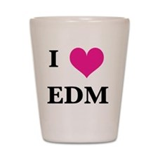 I heart EDM Shot Glass