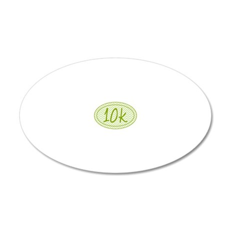 10k Green Chevron 20x12 Oval Wall Decal