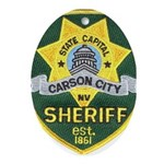 Carson City Sheriff Oval Ornament