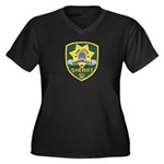 Carson City Sheriff Women's Plus Size V-Neck Dark