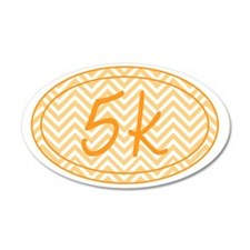 5k Orange Chevron Wall Decal