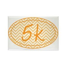 5k Orange Chevron Rectangle Magnet