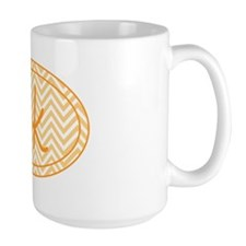 5k Orange Chevron Mug