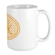 10k Orange Chevron Mug