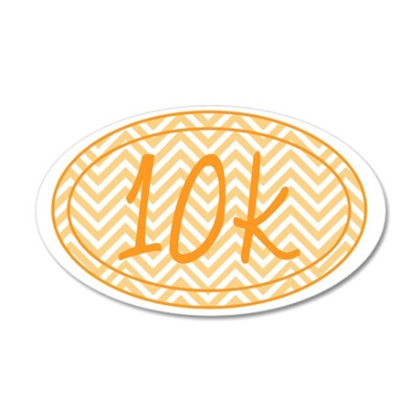 10k Orange Chevron 35x21 Oval Wall Decal