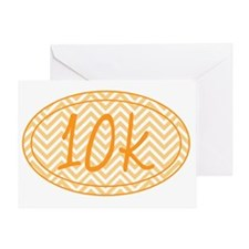 10k Orange Chevron Greeting Card