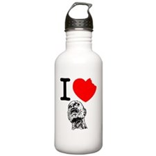 I Love Zombies Water Bottle