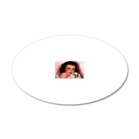 Pretty Face 20x12 Oval Wall Decal