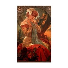 Alphonse Mucha Greeting Card Decal
