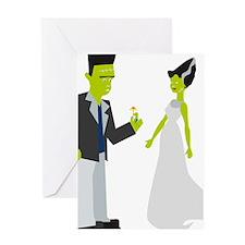 Frankenstein & Bride Greeting Card