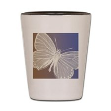 White Butterfly Shot Glass