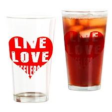 Live Love Shuffleboard Designs Drinking Glass