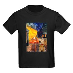 Cafe - Airedale (S) Kids Dark T-Shirt